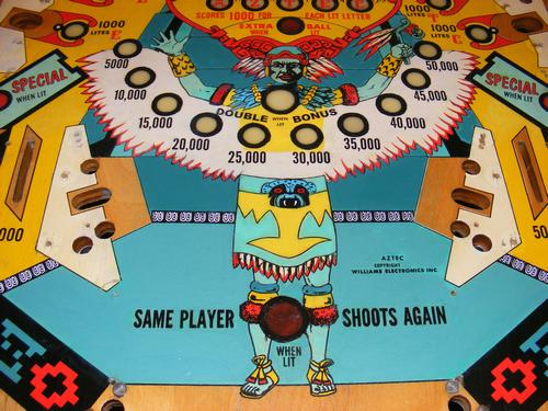 Williams 1976 Aztec Playfield After Restoration
