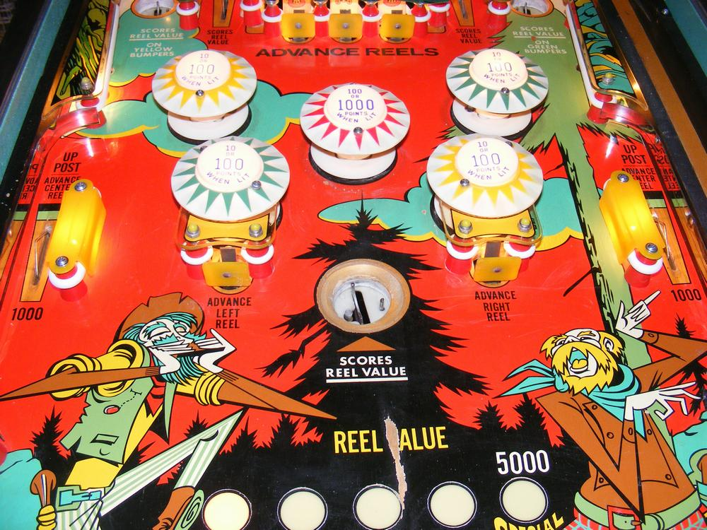 Williams 1971 'Klondike' Playfield After Cleaning and Waxing