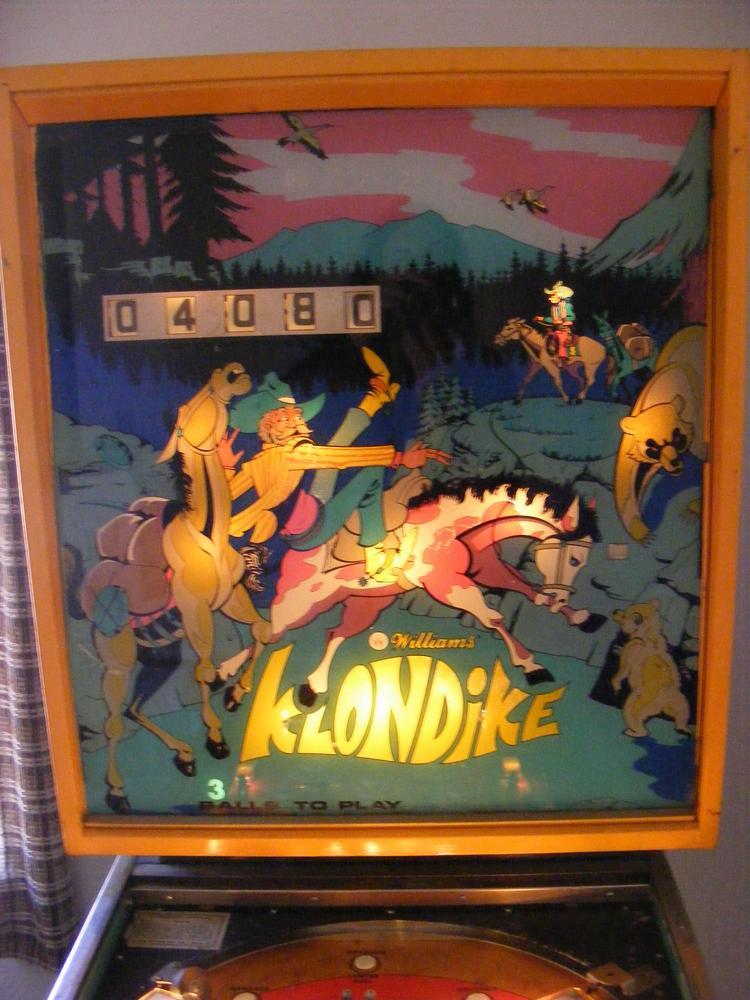 Williams 1971 'Klondike' The Backbox Comes Back to Life/Light
