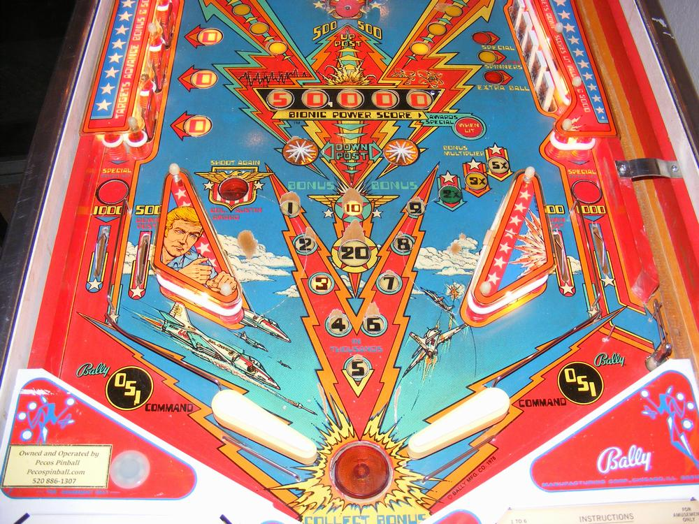 1978 Bally Six Million Dollar Man Playfield Lower