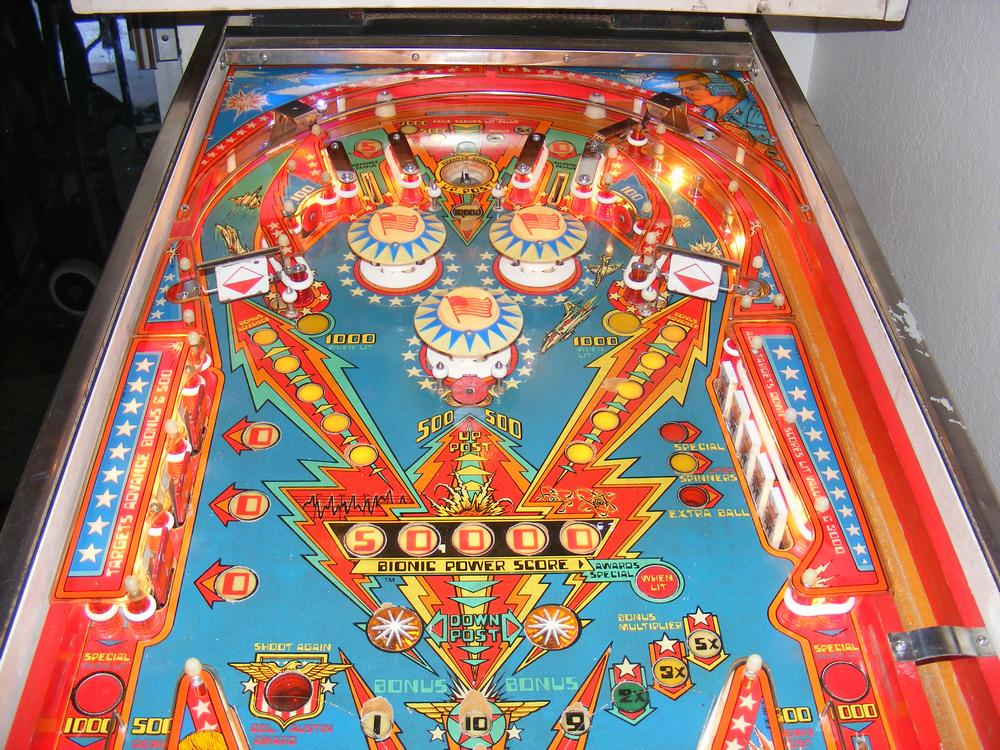 1978 Bally Six Million Dollar Man Playfield Upper